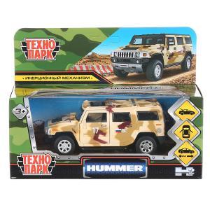 """Машина металл """"hummer h2 камуфляж"""" 12см, откр.двери, инерц., песочный в кор. Технопарк в кор.2*36шт"""