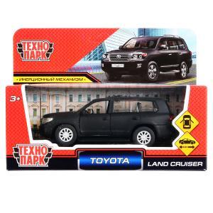 """Машина металл """"toyota land cruiser матовый"""" 12,5см, инерц., черный в кор. Технопарк в кор.2*36шт"""