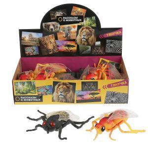 Игрушка пластизоль тянучка Играем вместе муха, пчела 16,5см 2 асс. в дисплее уп-14шт в кор.10уп