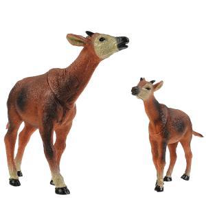 Игрушка пластизоль Животные Мамы и малыши (корова и теленок) в пак. Играем вместе в кор.4*12шт