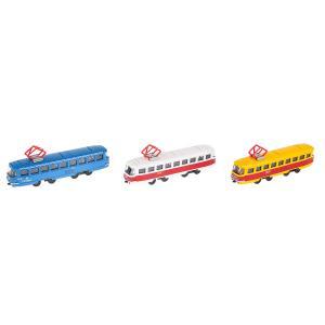 Модель металл Трамвай 16,5см, инерц., откр. двери, в ассорт. в дисплее Технопарк уп-12шт в кор.2*4уп