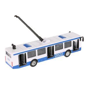 Модель металл Троллейбус/Автобус 16,5см., инерц., в ассорт. в дисплее Технопарк уп-12шт в кор.2*4уп