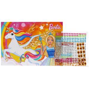 Набор д/детского тв-ва MultiArt Barbie Кристальная мозаика (17х23см) в пак. в кор.50шт