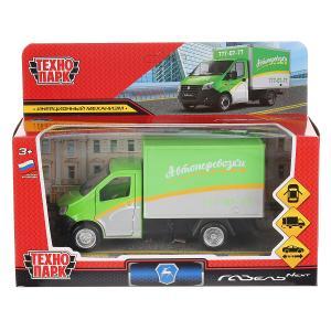 """Машина металл """"газель next грузовичков"""" 14см,откр.двери, инерц.,зеленый в кор. Технопарк в кор2*32шт"""