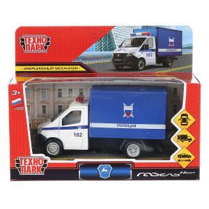 """Машина металл """"газель next полиция"""" 14см, открыв. двери, инерц., синий в кор. Технопарк в кор.2*32шт"""
