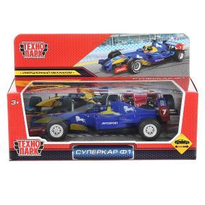 "Машина металл ""суперкар ф1"", длина 17см, инерц. синий в русс. кор. Технопарк в кор.48шт"