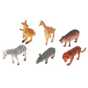 Игрушка пластизоль Играем Вместе Животные Африки (6шт) в ассорт. в пак. с хедером в кор.2*72шт