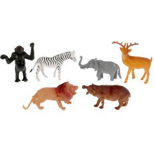Игрушка пластизоль Играем Вместе Животные Африки (6 шт) в ассорт. в пак. с хедером в кор.2*96шт