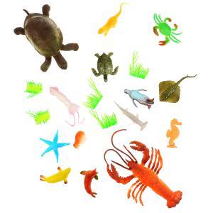 Игрушка пластизоль Играем Вместе Морские животные 12 видов +5 водорослей в пак. в кор.2*60шт