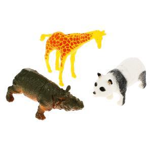Игрушка пластизоль Играем Вместе дикие животные (3шт) 15см, в ассорт. в пак. с хедером в кор.2*72шт
