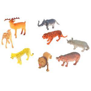 Игрушка пластизоль Играем Вместе дикие животные (8шт) 10см, в ассорт. в пак. с хедером в кор.2*48шт