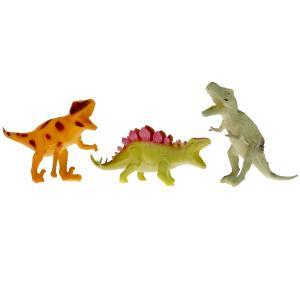 Игрушка пластизоль Играем Вместе динозавры (3шт) 15см, в ассорт. в пак. в хедером в кор.2*72шт