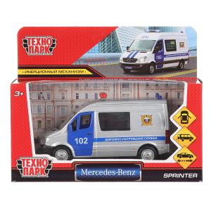 """Машина """"mercedes-benz sprinter полиция"""" 14см, открыв. двери, инерц. в кор Технопарк в кор.2*32шт"""