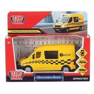 """Машина """"mercedes-benz sprinter такси"""" 14см, открыв. двери, инерц. в кор. Технопарк в кор.2*32шт"""