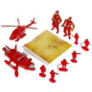 Набор солдатиков с инструментами пожарные (вертолет,фигурка,аксесс) в пак Играем вместе в кор2*108шт