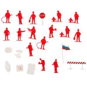 Набор солдатиков с инструментами пожарные (вертолет,фигурка,аксесс) в пак Играем вместе в кор.2*96шт