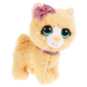 Игрушка мягкая кошка апельсинка 16см  не озвучена, в пакете МОЙ ПИТОМЕЦ в кор.24шт