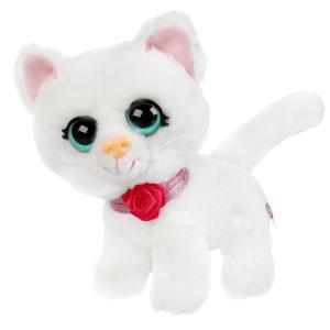 Игрушка мягкая кошка снежинка 16см  не озвучена, в пакете МОЙ ПИТОМЕЦ в кор.24шт