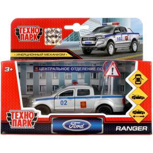 Машина металл FORD ranger, 12 см, дв.., баг., инер.+2 дор.знака,  в  ассор. Технопарк в кор.2*24шт