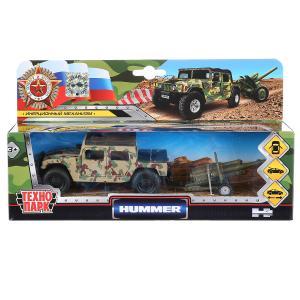 Машина металл HUMMER h1 вс ПИКАП, 11 см, дв., баг., инер.+пушка, кор Технопарк в кор.2*12шт
