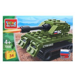 """Конструктор """"танк"""", 34дет. в кор. Город мастеров в кор.80шт"""