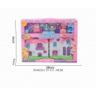 Дом для кукол, с фигурками и мебелью, цвет в ассорт. 3386-10 в кор. в кор.2*21шт