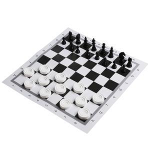 Настольная игра Шахматы и шашки 2-в-1 в пакете с хэдером малого формата. Умные игры в кор.25шт