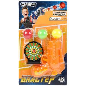 """Бластер стреляет шариками, мишень, в ассорт. на блистере 25*18,5*4,5см """"ИГРАЕМ ВМЕСТЕ"""" в кор.2*72шт"""