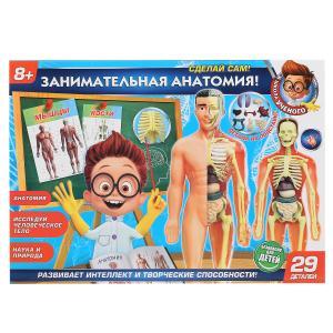 """Игрушка опыты """"тело человека 3d-пазл"""" в кор. ТМ """"Школа ученого"""" в кор.2*18шт"""