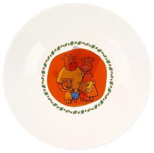 Оранжевая корова. Тарелка 19,6см  стекло Умка в кор.24шт
