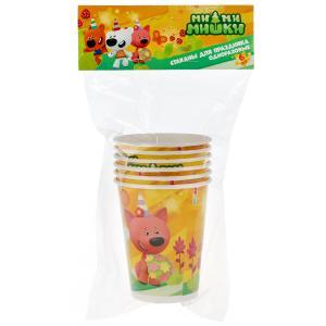 Стаканы бумажные Ми-ми-мишки набор из 6шт, пакет+хедер Товары для праздника в кор.96наб