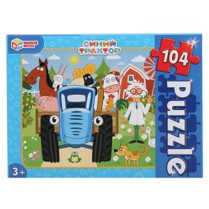 Синий трактор. Пазлы классические в коробке. Пазл 104 детали. Умные игры в кор.24шт