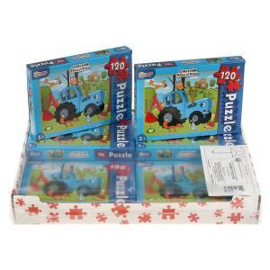 Синий трактор. Пазлы классические в коробке. Пазл 120 деталей. Умные игры в уп.8шт в кор.8уп