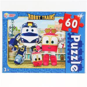 Робот трейнс. Пазлы классические в коробке. Пазл 60 деталей. Умные игры в кор.24шт