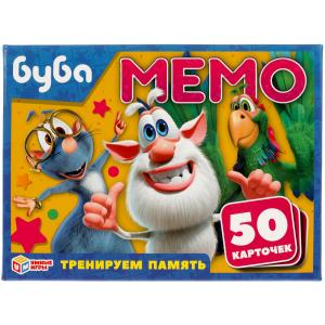 Буба. Карточная игра Мемо. (50 карточек, 65х95мм). Тренируем память. Умные игры в кор.50шт
