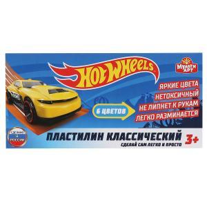 Hot wheels пластилин классический ХОТ ВИЛС 6 цв (120 г) MultiArt в кор.30шт