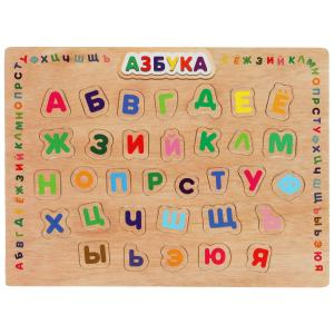 """Игрушка деревянная рамка-вкладыш """"азбука"""" Буратино в кор.100шт"""
