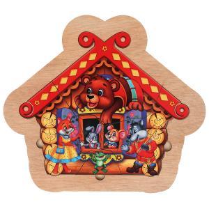 """Игрушка деревянная рамка-вкладыш """"теремок"""" Буратино в кор.120шт"""