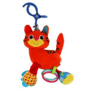 Текстильная игрушка погремушка тигр подвеска с вибрацией на блистере Умка в кор.125шт