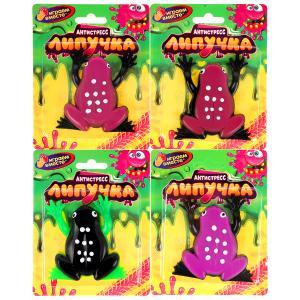 Игрушка лизун-липучка лягушка, цвет в ассорт. на блистере ИГРАЕМ ВМЕСТЕ в кор.4*72шт