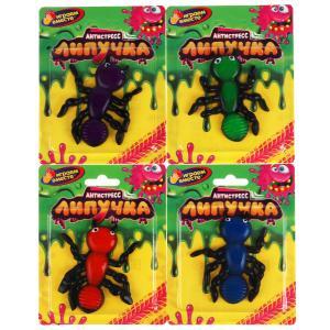 Игрушка лизун-липучка муравей, цвет в ассорт. на блистере ИГРАЕМ ВМЕСТЕ в кор.4*72шт