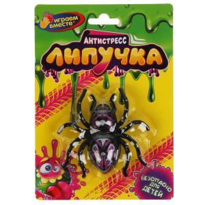 Игрушка лизун-липучка паук на блистере ИГРАЕМ ВМЕСТЕ в кор.2*72шт