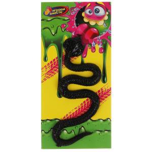 Игрушка лизун-липучка черная змея в пак. на карт. ИГРАЕМ ВМЕСТЕ уп-12шт в кор.15*5уп