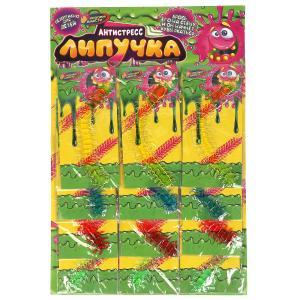 Игрушка лизун-липучка цветная сороконожка,в ассорт в пак на карт ИГРАЕМ ВМЕСТЕ уп-12шт в кор.15*5уп