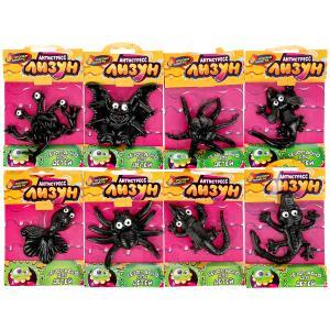 Игрушка лизун морские животные 8 видов в ассорт., черного цвета в пак. ИГРАЕМ ВМЕСТЕ в кор.12*48шт