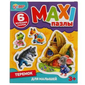Теремок. Макси-пазлы для малышей.Коробка 150*180*40. 6 пазлов. Умные игры в кор.40шт
