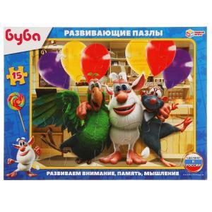 Буба. Пазлы в рамке (15 дет.) Умные игры в кор.50шт