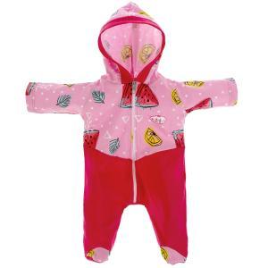 Одежда для кукол 40-42 см комбинезон с капюшоном фрукты КАРАПУЗ в шт.100шт