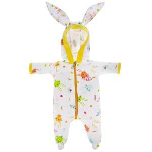 Одежда для кукол 40-42см комбинезон с капюшоном зайки КАРАПУЗ в шт.100шт
