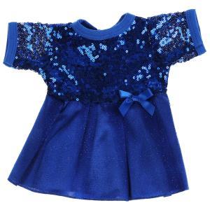 Одежда для кукол 40-42см синие платье с пайетками КАРАПУЗ в шт.100шт